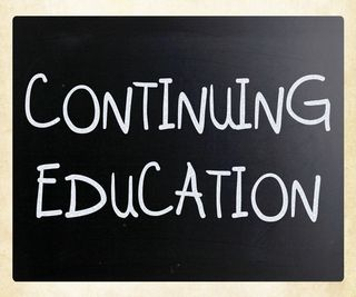 Continuing education chalkboard