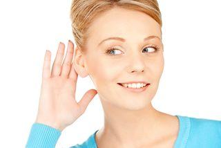 Lady listening