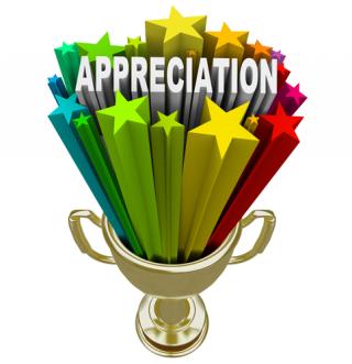 Appreciation stars logo